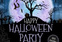 Halloween Party Flyer Template Free Design Idea (1st Terrible Choice)