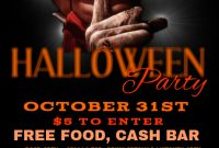 Halloween Party Flyer Template Free Design Idea (2nd Terrible Choice)