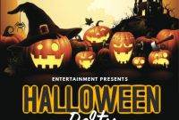 Halloween Party Flyer Template Free Design Idea (4th Terrible Choice)