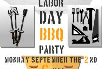 Labor Day BBQ Flyer Template Free Printable (3rd Design Option)