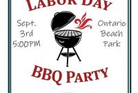Labor Day BBQ Flyer Template Free Printable (4th Design Option)