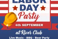 Labor Day Party Flyer Free Printable (3rd Amazing Template Idea)