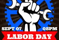 Labor Day Party Flyer Free Printable (4th Amazing Template Idea)