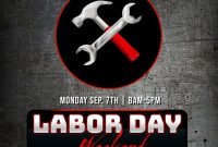 Labor Day Weekend Flyer Template Free (2nd Best Option)