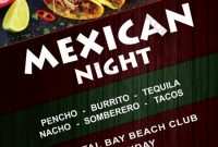 Mexican Restaurant Flyer Template Free (2nd Best Example)