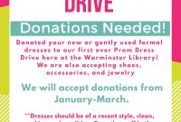 Prom Dress Drive Flyer Template Free (1st Best Design Idea)