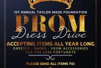 Prom Dress Drive Flyer Template Free (3rd Best Design Idea)