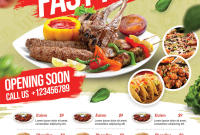 Restaurant Opening Flyer Template Free (1st Hot Choice)