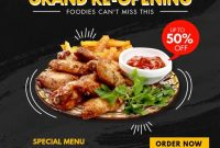 Restaurant Opening Flyer Template Free (2nd Hot Choice)