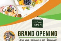 Restaurant Opening Flyer Template Free (3rd Hot Choice)