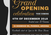 Restaurant Opening Flyer Template Free (4th Hot Choice)