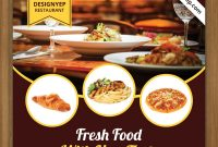 Restaurant Promotion Flyer Template (2nd Preference Free)