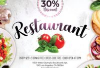 Restaurant Promotion Flyer Template (3rd Preference Free)