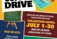 School Supply Donation Flyer Template Free (1st Best Idea)
