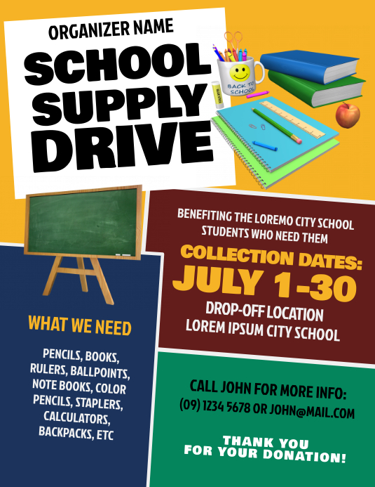 school supply donation flyer template, book donation flyer template, school supply drive flyer template, donation drive flyer template, free fundraiser templates for word, donation flyer template word, fundraising poster designs
