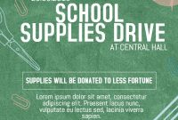School Supply Donation Flyer Template Free (2nd Best Idea)