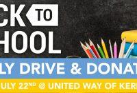 School Supply Donation Flyer Template Free (3rd Best Idea)