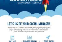 Social Media Marketing Flyer Template Free (1st Design)