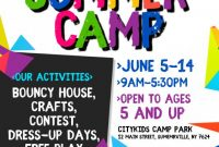 Summer Camp Flyer Template Free Download (2nd Sample)