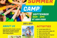 Summer Camp Flyer Template Free Download (3rd Sample)