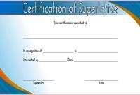 Superlative Award Certificate Templates FREE (1st Certificate of Award Design)
