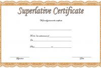 Superlative Award Certificate Templates FREE (2nd Certificate of Achievement Design)