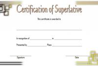 Superlative Award Certificate Templates FREE (2nd Certificate of Award Design)