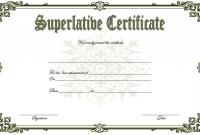 Superlative Award Certificate Templates FREE (3rd Certificate of Achievement Design)