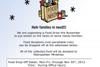 Thanksgiving Food Donation Flyer Templates Free (The 1st Best Simple Design)