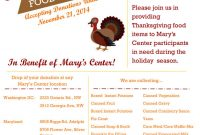 Thanksgiving Food Donation Flyer Templates Free (The 3rd Best Simple Design)