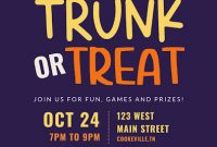 Trunk or Treat Flyer Template Free Printable (2nd Amazing Option)