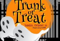 Trunk or Treat Flyer Template Free Printable (3rd Amazing Option)