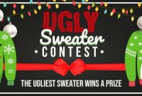 Ugly Christmas Sweater Contest Flyer Template Free (1st Ugliest Examples)