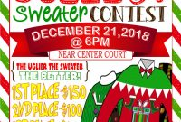 Ugly Christmas Sweater Contest Flyer Template Free (2nd Ugliest Examples)