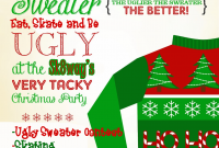 Ugly Christmas Sweater Contest Flyer Template Free (3rd Ugliest Examples)