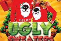 Ugly Christmas Sweater Flyer Template Free (1st Design Idea)