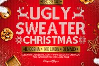Ugly Christmas Sweater Flyer Template Free (2nd Design Idea)