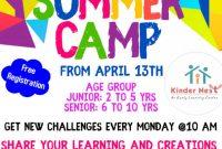 Virtual Summer Camp Flyer Template Free Download (1st Design Idea)