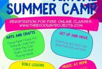 Virtual Summer Camp Flyer Template Free Download (3rd Design Idea)