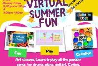 Virtual Summer Camp Flyer Template Free Download (4th Design Idea)