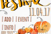 1st Extraordinary Fall Harvest Festival Flyer Template Free Download