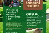 1st Modern Gardening Flyer Template Free Design Idea
