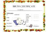 1st Odd Baby Boy Birth Certificate Template Free Editable Design