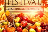 1st Professional Fall Festival Flyer Template Free Word