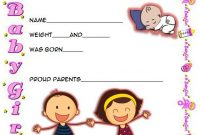 2021 Baby Birth Certificate Printable Free with Cute Parents