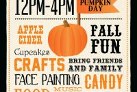 2nd Extraordinary Fall Harvest Festival Flyer Template Free Download