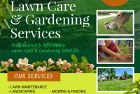 2nd Modern Gardening Flyer Template Free Design Idea