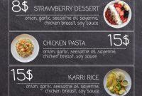 2nd Modern Restaurant Food Menu Flyer Template Free Design