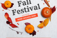 2nd Professional Fall Festival Flyer Template Free Word