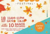 3rd Professional Fall Festival Flyer Template Free Word